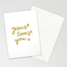 Jesus loves you Stationery Cards