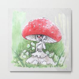Empire of Mushrooms: Amanita Muscaria Metal Print