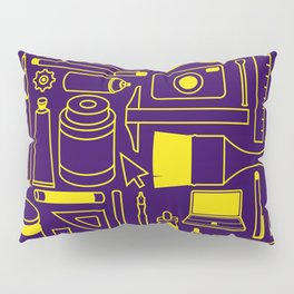Art Supplies - Eggplant and Yellow Pillow Sham