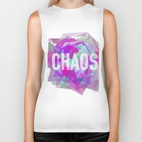 chaos Biker Tanks featuring CHAOS by artic