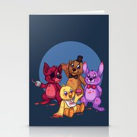 fnaf Stationery Cards featuring Five Nights at Freddy's by Emm Gee Art