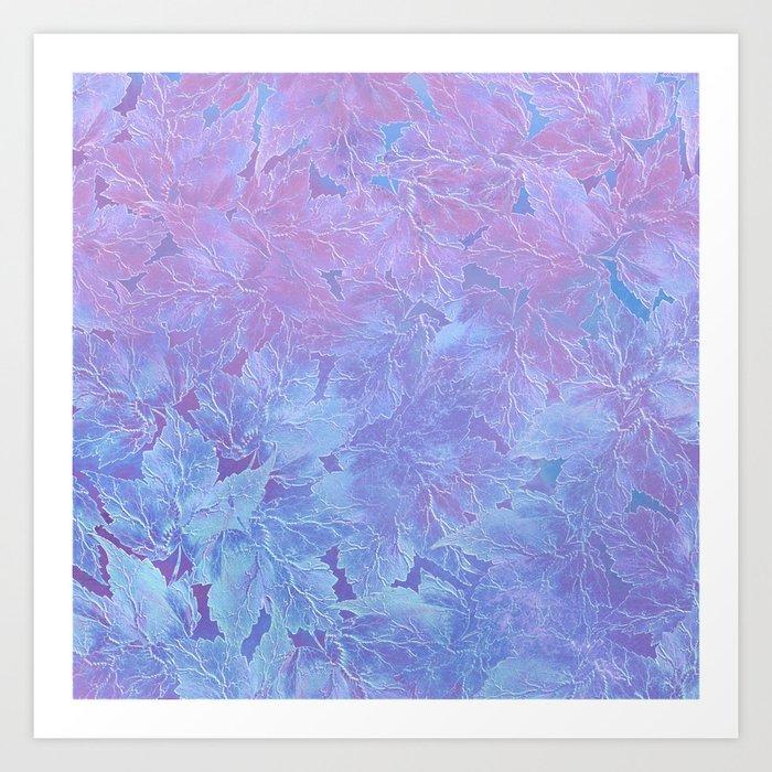 Frozen Leaves 3 Art Print