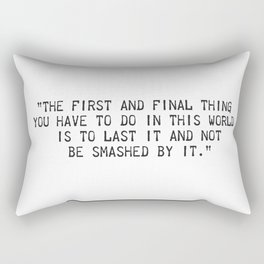 Ernest Hemingway quote two Rectangular Pillow