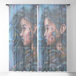 Snake charmer Sheer Curtain