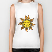 sublime Biker Tanks featuring Sublime Sun Psychedelic Character Design Logo by CAP Artwork & Design