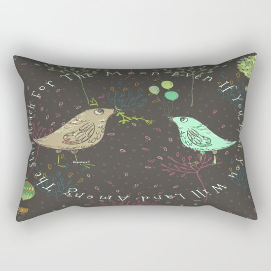 Reach For The Moon - Bagaceous Rectangular Pillow
