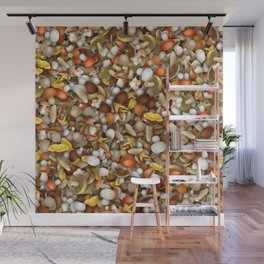 Mushrooms heap Wall Mural