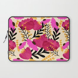 Vibrant Floral Wallpaper Laptop Sleeve