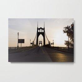 Sunrise St Johns Bridge Metal Print