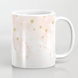 Gold stars on blush pink Coffee Mug