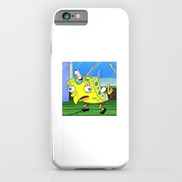 Mocking Spongebob iPhone Case