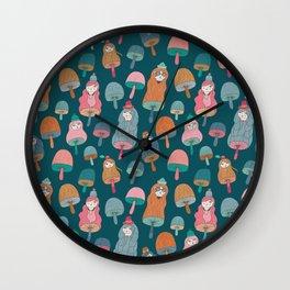 Pattern Project / Mushroom Girls Wall Clock