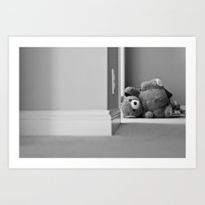 Teddy Bear Tipped Over Art Print