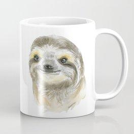 Sloth Face Watercolor Painting Animal Art Coffee Mug