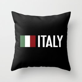 Italy: Italy & Italian Flag Throw Pillow