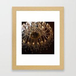 Glass Chandelier Framed Art Print