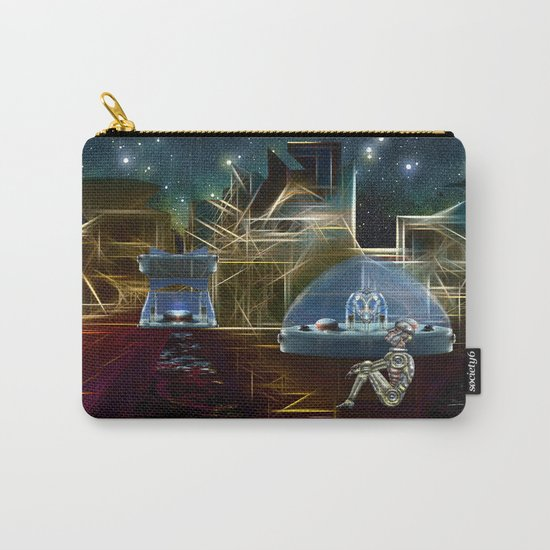 Do aliens get lonely as the lights begin to fade? Carry-All Pouch