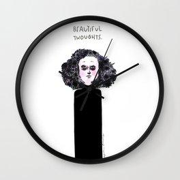 Beautiful Thoughts Wall Clock