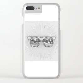Going to see the world Clear iPhone Case