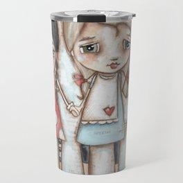 Never Far Away - Sister, Friend, Girlfriend art Travel Mug
