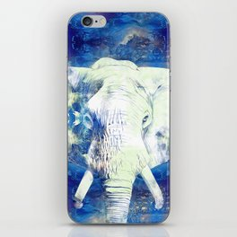 Blue marble water White Elephant Digital art iPhone Skin
