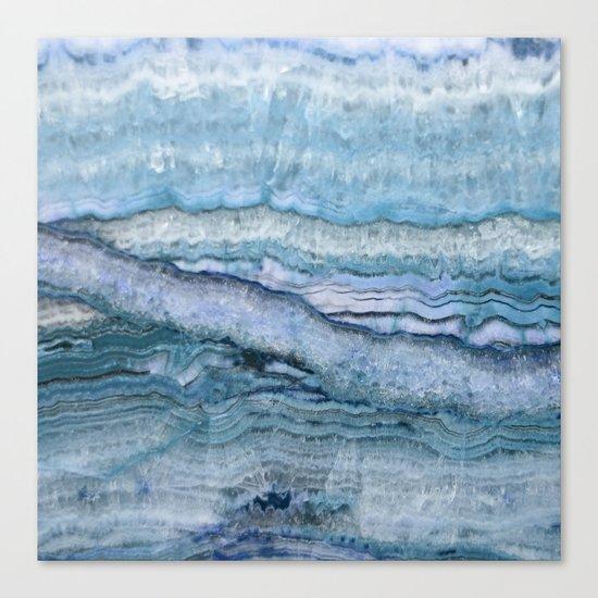 Mystic Stone Aqua Blue Canvas Print