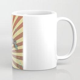 vintage style circus elephant big top stripes Coffee Mug