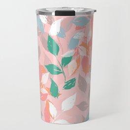 Pretty foliage brush paint design Travel Mug