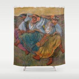 "Edgar Degas ""Russian dancers"" Shower Curtain"