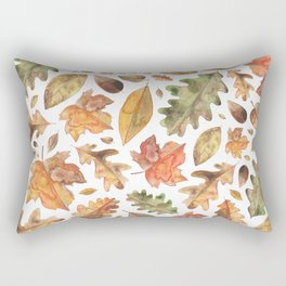 Watercolour Autumn Leaves. Rectangular Pillow