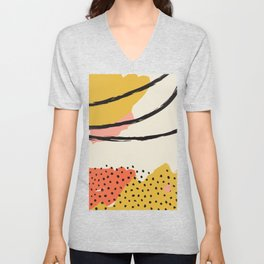 Mid Century Abstract Print, Modernist Modern Art, Color Field Contemporary Art, Large Wall Art, Suns Unisex V-Neck