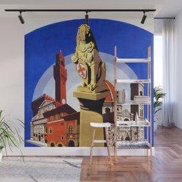 Florence Firenze travel, lion statue Wall Mural