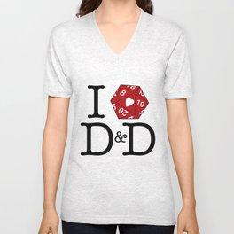 I Heart D&D Unisex V-Neck