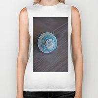seashell Biker Tanks featuring Blue Seashell by Kelly Stiles
