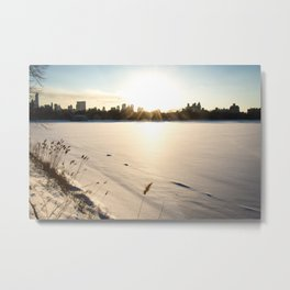 New York : The Snow, the Sun & The Skyline Metal Print