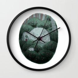 Bear and Berries Wall Clock
