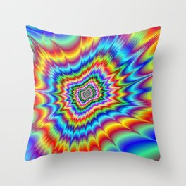 Blasted into Orbit Throw Pillow