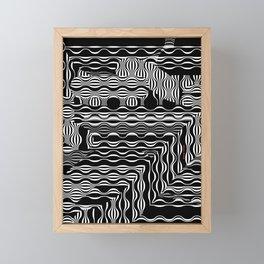 EXOTIC BLACK AND WHITE PATTERN Framed Mini Art Print