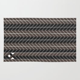Non-conformist Black Chevron Pattern #society6 Rug