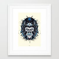 gorilla Framed Art Prints featuring gorilla by yoaz