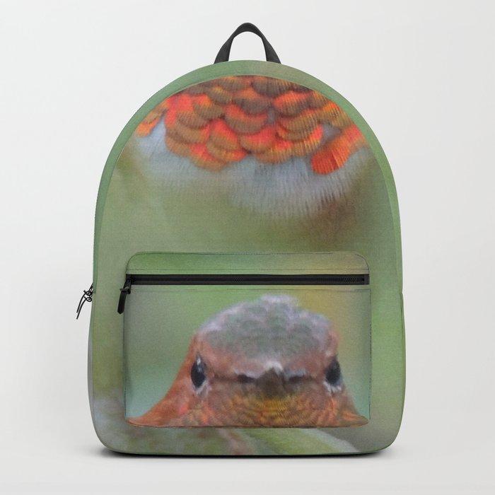 An Allen's Hummingbird Amid Mexican Sage Backpack