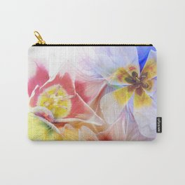 Abstract with Spring Tulips Carry-All Pouch