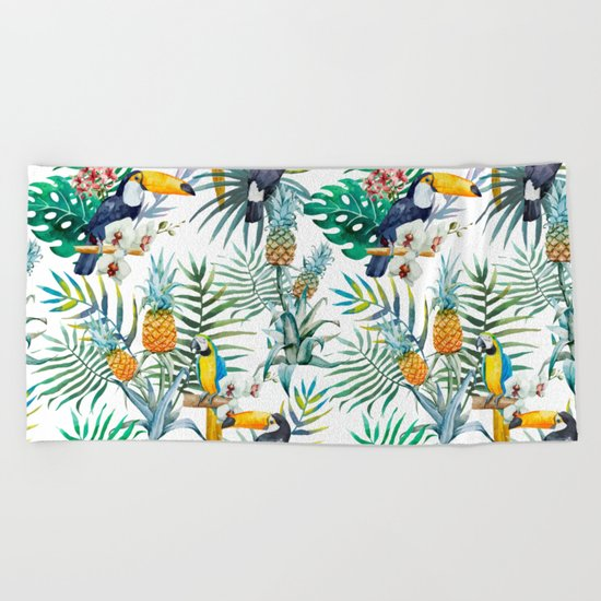 Parroted Beach Towel