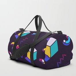 Festive Background in Neo Memphis Style Colorful Space Decorative pattern Duffle Bag