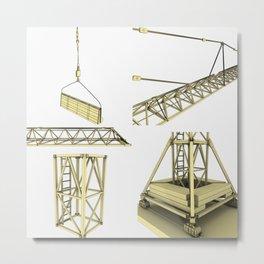 Crane parts drawing Metal Print