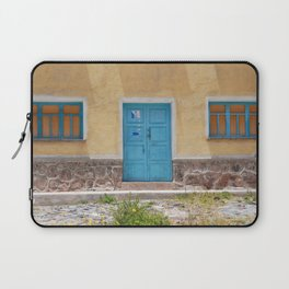 Bolivia door 7 blue on yellow Laptop Sleeve