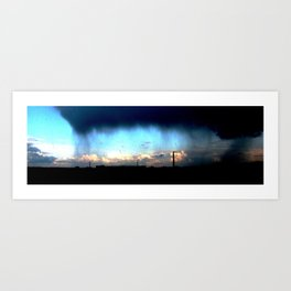 Cave from clouds.  Art Print