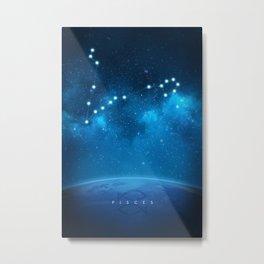 Pisces: Astrological Art Metal Print