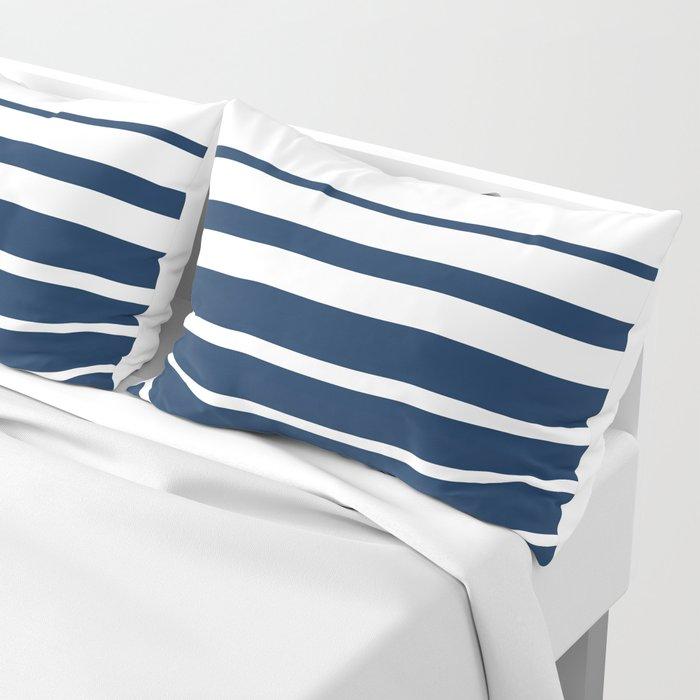 White blue striped pattern . Pillow Sham