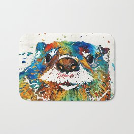 Otter Art - Ottertude - By Sharon Cummings Bath Mat